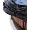 Katusega välibassein 'Stone' ø360x76cm filterpumbaga, pruun