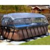 Katusega välibassein 'Wood' 400 x 200cm karkassi, veefiltri ja redeliga, hall