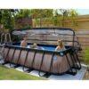 Katusega välibassein 'Wood' 400 x 200cm karkassi, veefiltri ja redeliga, pruun