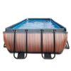 Katusega välibassein 'Wood' 540 x 250cm karkassi, veefiltri ja redeliga, pruun