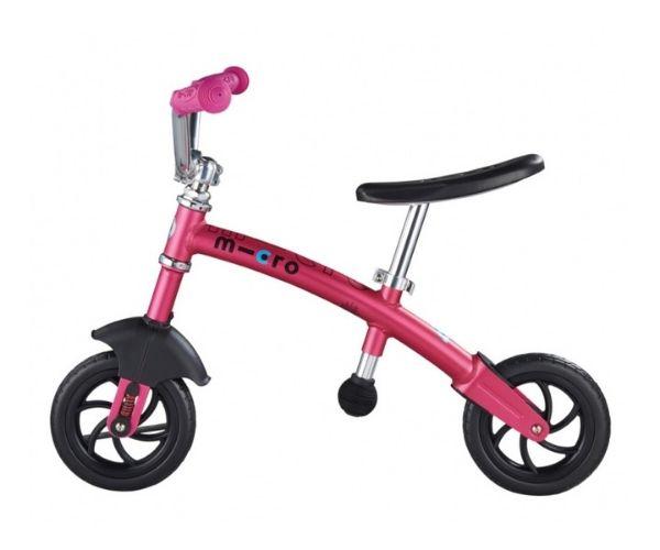 Laste jooksuratas Micro G-Bike Chopper Deluxe (roosa), lastele vanuses 2-5 eluaastat