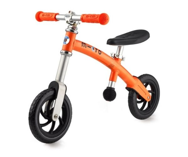 Laste jooksuratas Micro G-Bike (oranž), lastele vanuses 2-5 eluaastat