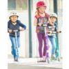 Laste tõukeratas Micro Sprite (lillatriibuline), lastele 5-12 aastat