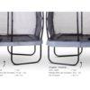 EXIT batuut 'Elegant Premium' 244x427cm + ohutusvõrk Deluxe ja vedrukate, hall