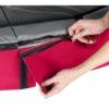 EXIT batuut 'Elegant Premium' 244x427cm + ohutusvõrk Deluxe ja vedrukate, punane