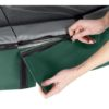 EXIT batuut 'Elegant Premium' 244x427cm + ohutusvõrk Deluxe ja vedrukate, roheline