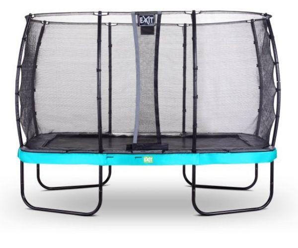EXIT batuut 'Elegant Premium' 244x427cm + ohutusvõrk Deluxe ja vedrukate, sinine