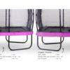 EXIT batuut 'Elegant Premium' 244x427cm + ohutusvõrk Economy ja vedrukate, lilla