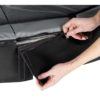 EXIT batuut 'Elegant Premium' 244x427cm + ohutusvõrk Economy ja vedrukate, must