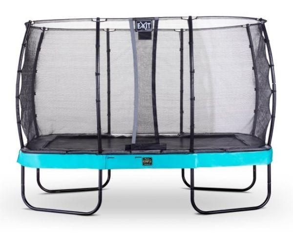 EXIT batuut 'Elegant Premium' 244x427cm + ohutusvõrk Economy ja vedrukate, sinine