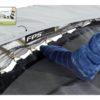 EXIT batuut 'Elegant Premium' 244x427cm + ohutusvõrk Economy ja vedrukate