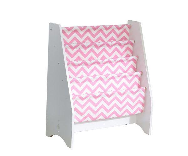 KidKraft kangaga raamaturiiul, roosa valgega