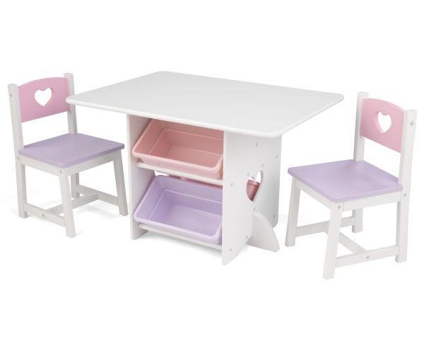 Laste laud ja toolid, 'Kidkraft' Heart, valge
