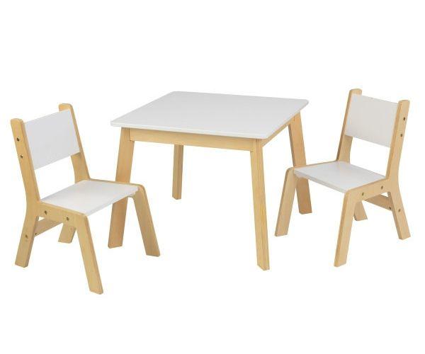 Laste laud ja toolid, 'Kidkraft' Modern, valge