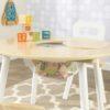 Laste laud ja toolid 'Kidkraft' Round, naturaalne-valge