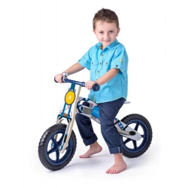 Laste jooksuratas puitraamil 'Bike' (sinine)