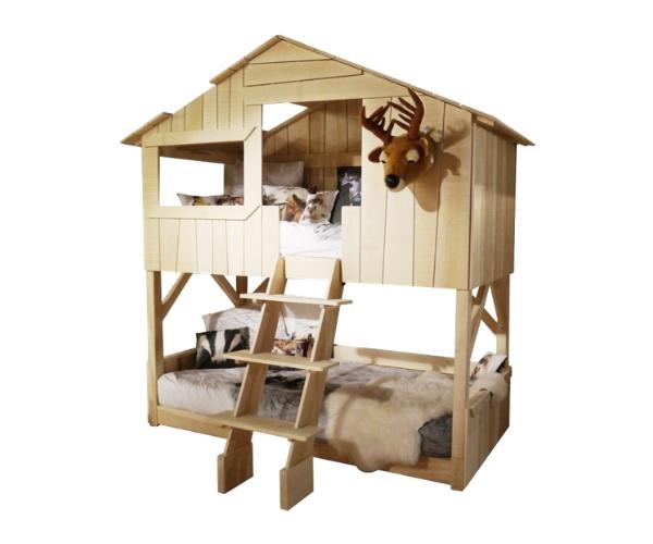 Laste onn-narivoodi Mathy by Bols 'Treehouse' (naturaalne täispuit)
