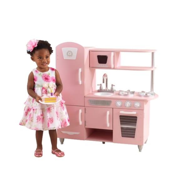 Mänguköök 'KidKraft' Vintage, roosa-valge