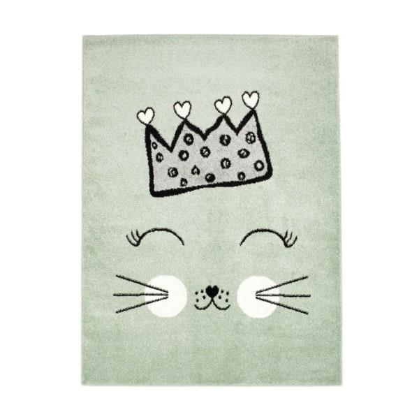 Pehme lastetoa vaip 'Kiisu printsess' heleroheline