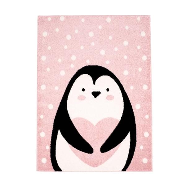 Pehme lastetoa vaip 'Pingviin' õrnroosa