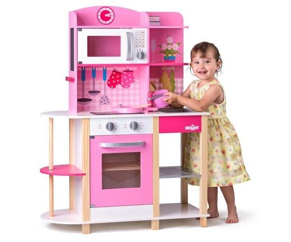 Puidust laste mänguköök Roosi