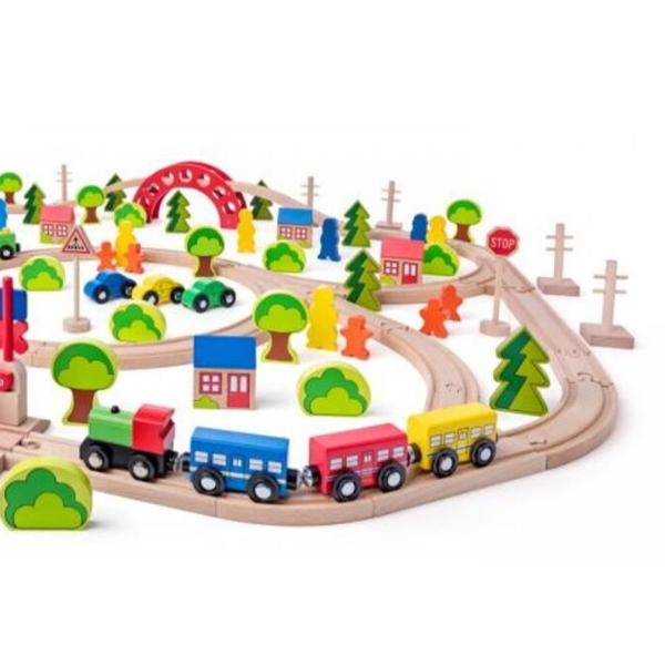 Puidust rongirada 'Suur linn' (120-osaline)