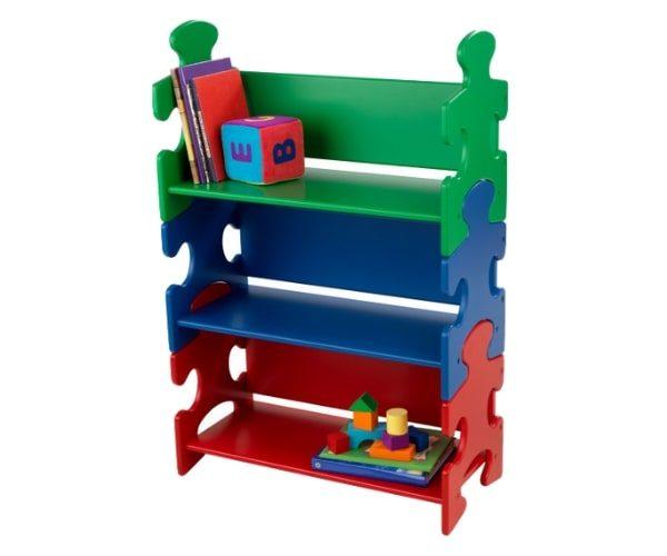 KidKraft laste riiul Puzzle sinine/punane/roheline