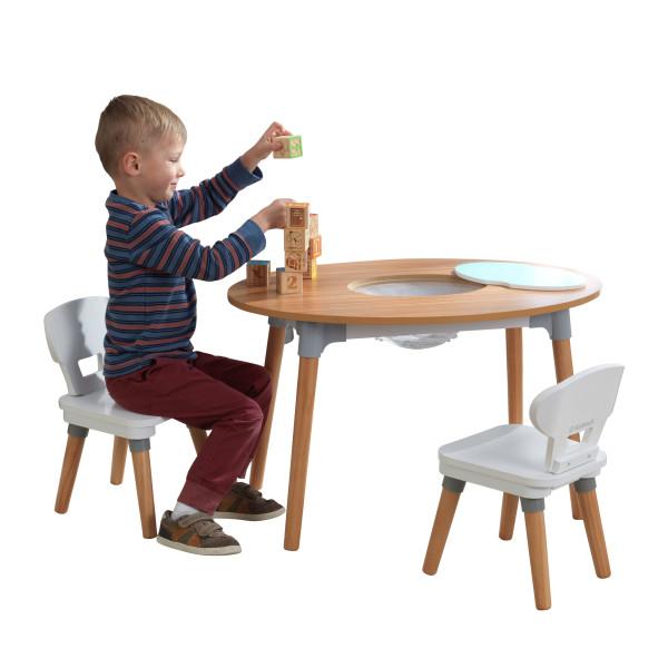 Laste laud ja toolid (2tk), 'Kidkraft' Mid-Century Kid™, naturaalne-valge