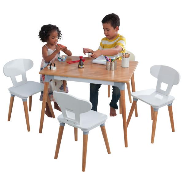 Laste laud ja toolid (4tk), 'Kidkraft' Mid-Century Kid™, naturaalne-valge
