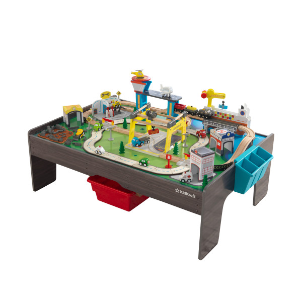 Puidust mängulaud rongirada 'Kidkraft' My Own City (120-osaline)