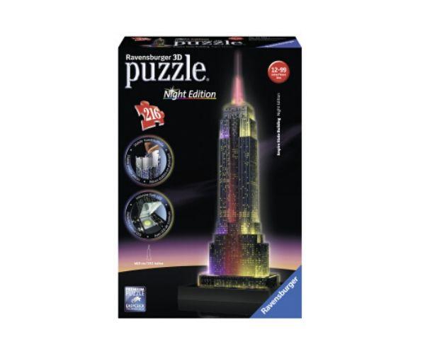 Pimedas helendav 3D pusle Empire State Building