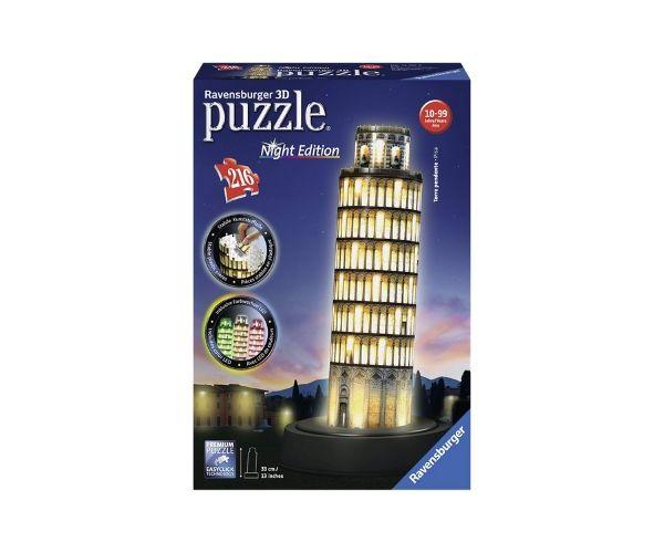Ravensburger 3D pimedas helendav pusle Pisa torn 216 tk