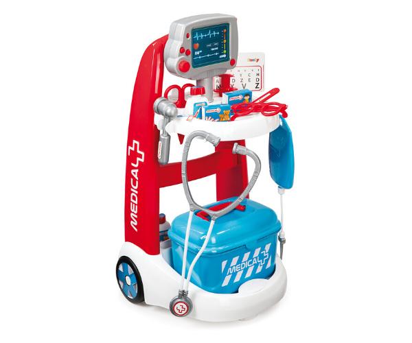 Smoby elektrooniline arstimäng (käru) + 16 tarvikut