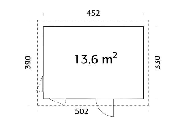 Elementmaja Etta 13,6 m²