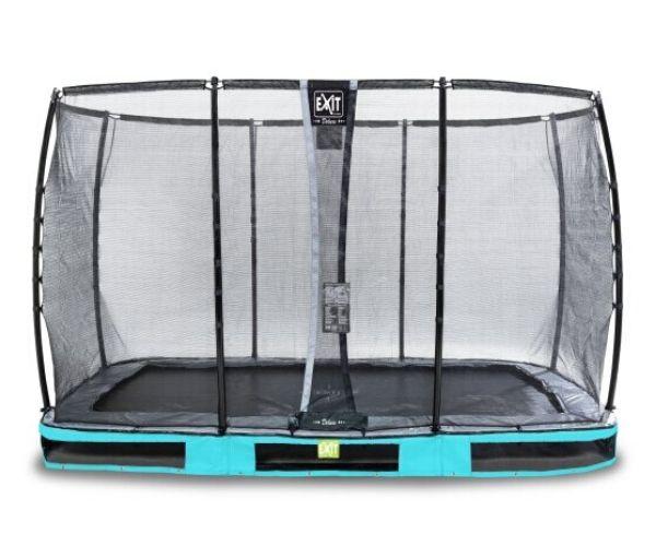EXIT batuut maapinnale 'Elegant Premium' 244x427cm + ohutusvõrk Deluxe + vedrukate, sinine