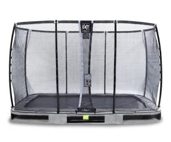 EXIT batuut maapinnale 'Elegant Premium' 244x427cm + ohutusvõrk Deluxe + vedrukate,hall