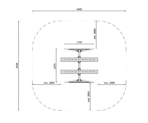 Kiik Jesper 2-kohaline + F-ankrud (pruun immutus)