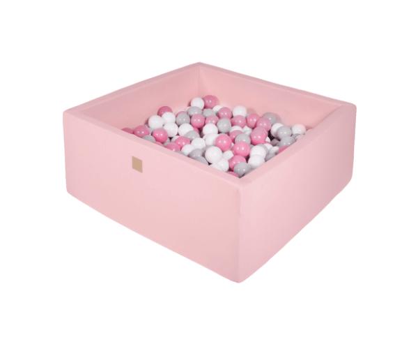 Pallimeri kandiline Meow 90x90/40cm + 200 palli (roosa-õrnroosa mix)