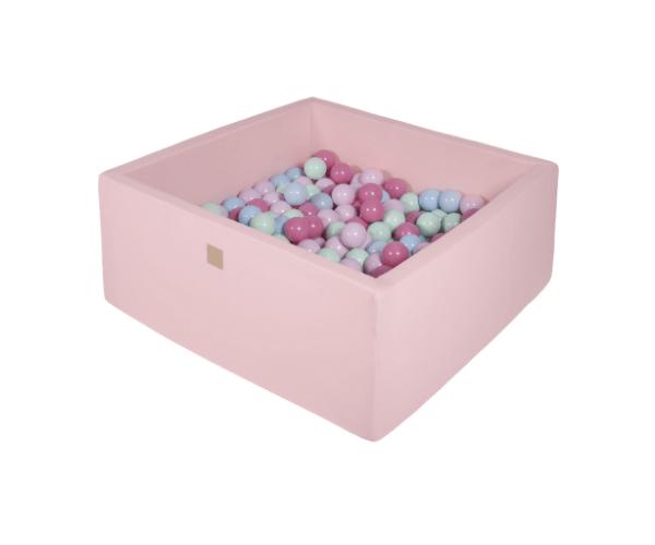 Pallimeri kandiline Meow 90x90/40cm + 200 palli (roosa-pastelne mix)