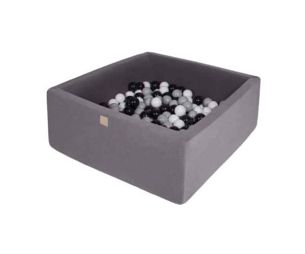 Pallimeri kandiline Meow 90x90/40cm + 200 palli (tumehall-must mix)