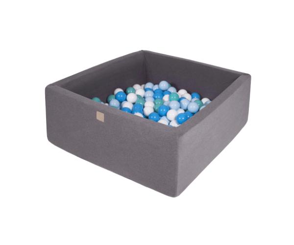 Pallimeri kandiline Meow 90x90/40cm + 200 palli (tumehall-sinine mix)