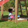 Puidust mänguväljak Jungle Gym Cottage + kiigemoodul 1-Swing
