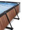 Välibassein 'Wood' 300x200x65cm filterpumbaga, pruun