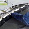 EXIT batuut maapinnale 'Elegant Standard' 214x366cm + ohutusvõrk Economy + vedrukate, roheline