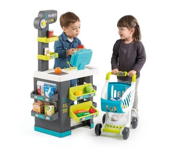 Smoby elektrooniline mängupood ostukäruga