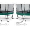 EXIT batuut 'Elegant Standard' Ø366cm + ohutusvõrk Economy ja vedrukate, roheline