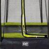 EXIT batuut maapinnale 'Siluett' Ø305cm + ohutusvõrk ja vedrukate, roheline