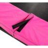 EXIT batuut maapinnale 'Siluett' Ø427cm + ohutusvõrk ja vedrukate, roosa