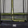 EXIT batuut maapinnale 'Siluett' 244x366cm + ohutusvõrk ja vedrukate, must