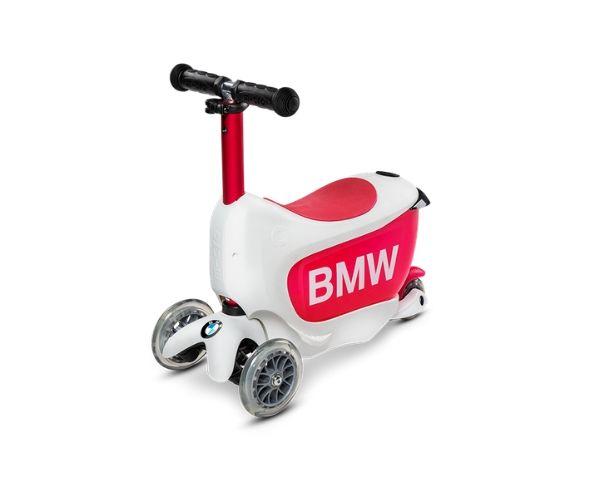 """Laste tõukeratas Micro """"BMW"""", lastele 2-5 aastat (valge/vaarikapunane)"""